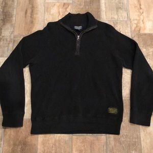 Polo black 1/4 Zip long sleeve pullover Sweater